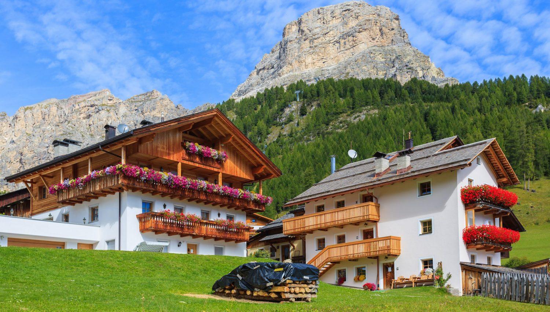 Bauernhaus in den Dolomiten